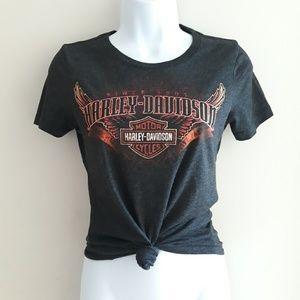 Harley Davidson  Motorcycle Graphic T-shirt